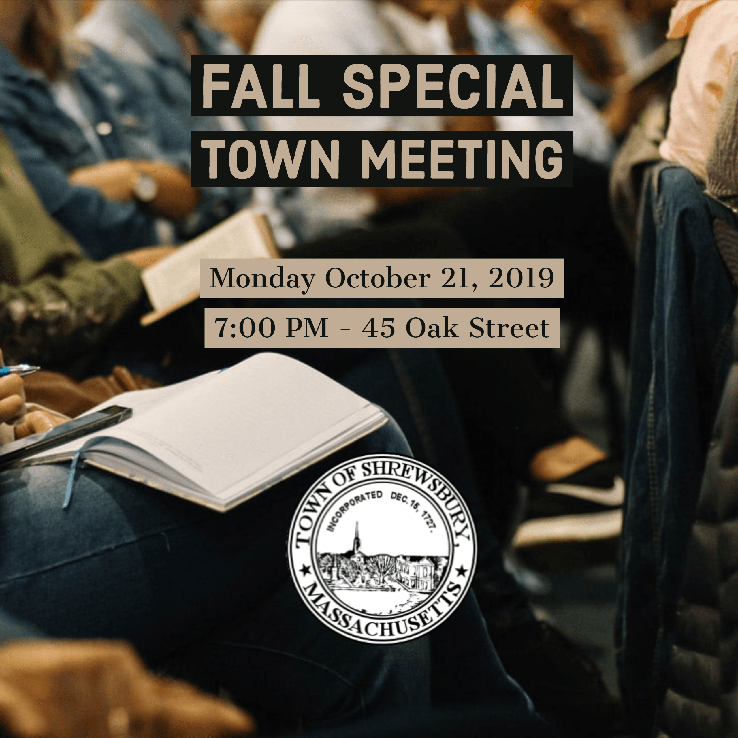 Fall 2019 Special Town Meeting