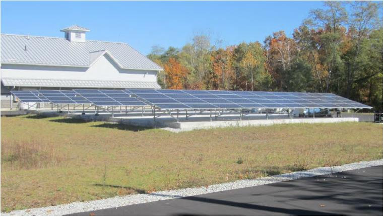 Solar array at water treatment plant