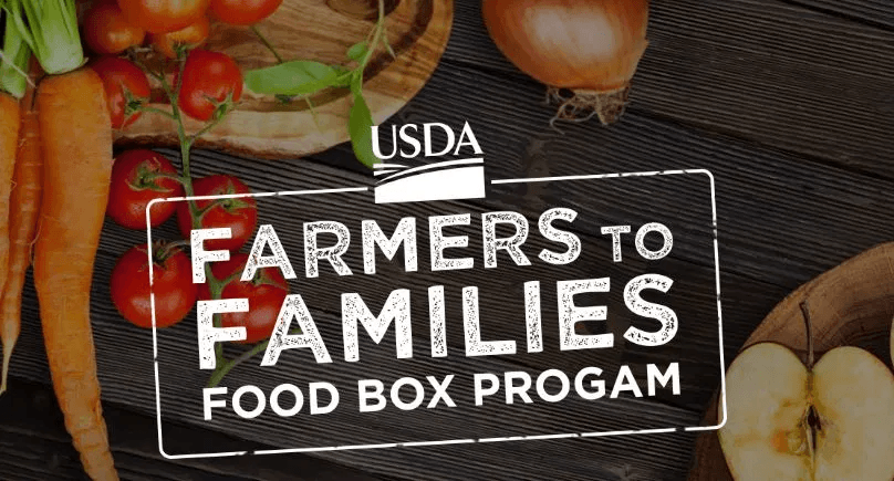 USDA Farmers to Families Logo